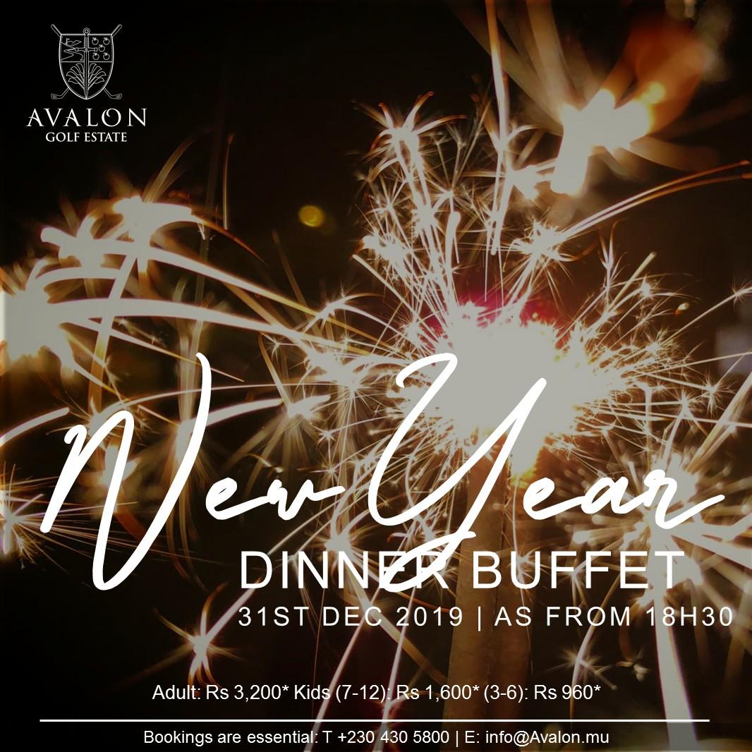 New years dinner buffet