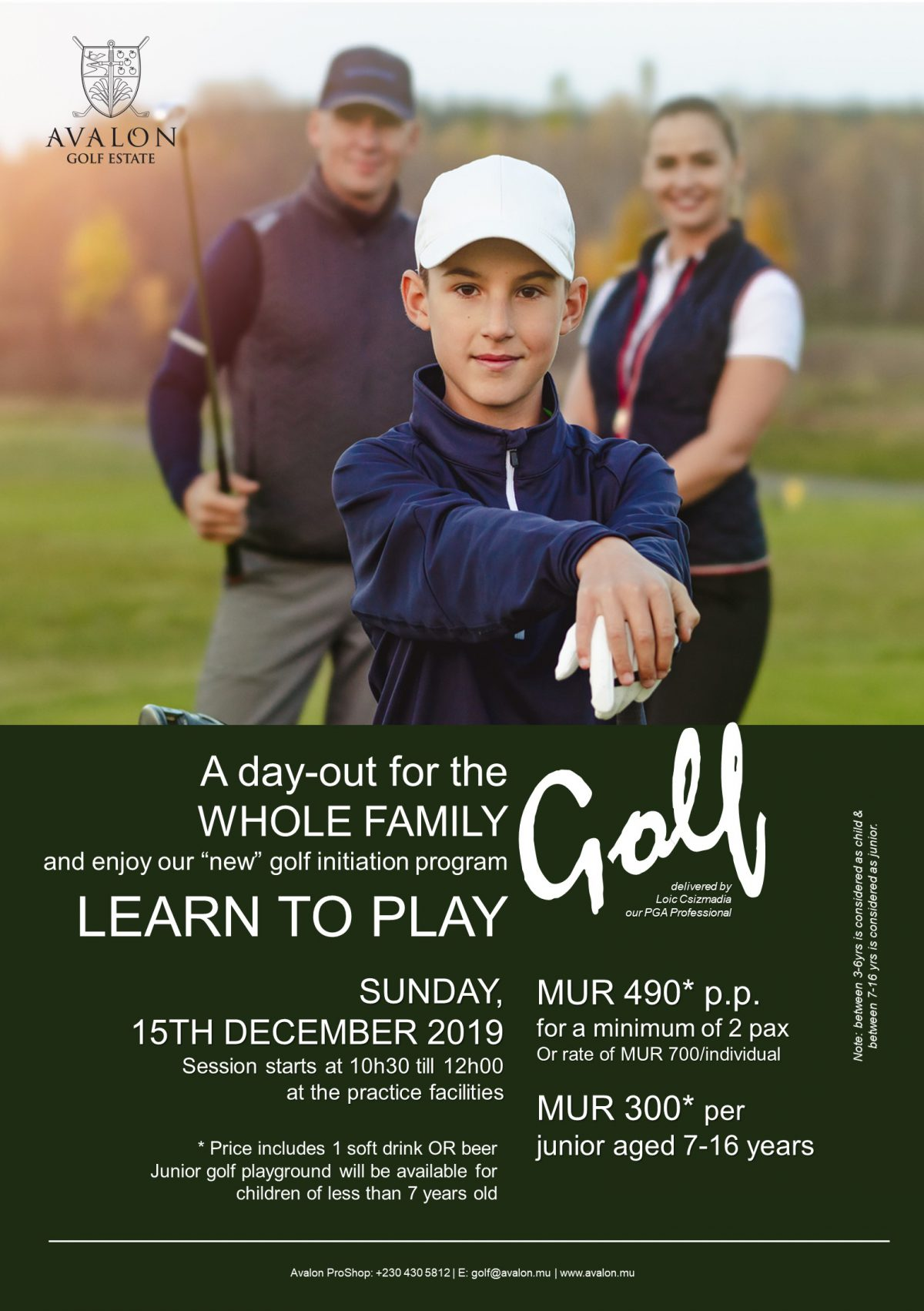 Learn to play golf 2019
